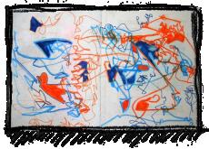 Rox Flame - Wellington New Zealand Artist - blue orange