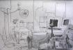 Sketch of lounge, Island Bay Wellington - Rox Flame